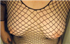 Black fishnet cover titties!