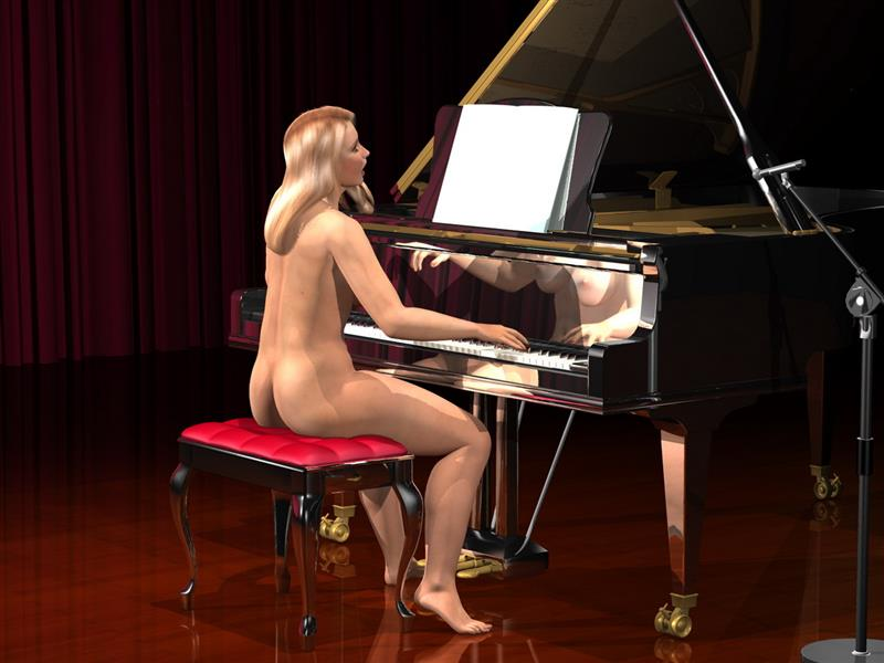 Summer Claire Playing Piano Sexy Fuq Com 1